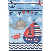 1st Birthday Nautical Party Loot Bags Pk 8