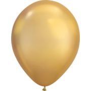 Chrome Gold Latex Balloons (11in. /30cm) Pk 25