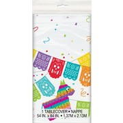 Mexican Fiesta Plastic Tablecover (1.37m x 2.13m) Pk 1