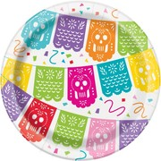 Mexican Fiesta 7in. Paper Plates Pk 8