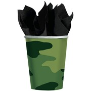 Army Camouflage 9oz. Paper Cups Pk 8