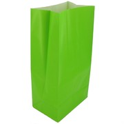 Lime Green Paper Party Bags Pk12