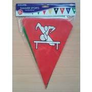 Assorted Colour Summer Sports Pennant Banner (3.66m) Pk 1