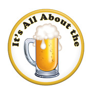 Oktoberfest It's All About the Beer Party Badge (9cm) Pk 1