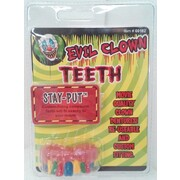 Evil Clown Multicolour Teeth Pk 1