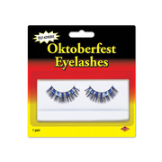Blue & Silver Oktoberfest Self-Adhesive Eyelashes (1 Pair)