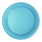 Electric Blue 7in. Plastic Snack Plates Pk 20