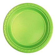 Lime Green 7in. Plastic Snack Plates Pk 20