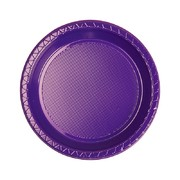 Purple 7in. Plastic Snack Plates Pk 20