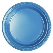 True Blue 9in. Plastic Dinner Plates Pk 20