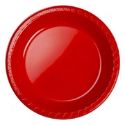 Apple Red Banquet Plastic Plates Pk 20