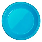Electric Blue Banquet 10in Plastic Plates Pk 20