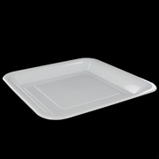 Superior White Square Banquet Plastic Plates 260mm Pk 200
