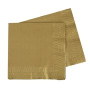 Metallic Gold 2 Ply Lunch Napkins Pk 40