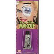 Silver Glitter Gel Make Up Tube (15ml) Pk 1