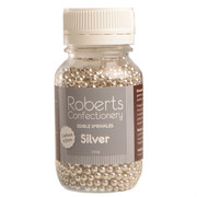 Edible Silver Cashous Sprinkles (4.5mm) 120g