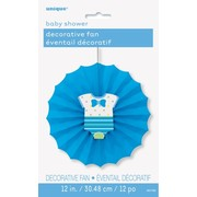 Baby Shower Boy Blue Decorative Fan (30cm) Pk 1