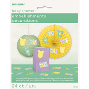 Baby Shower Embellishment Decorations  Pk 24