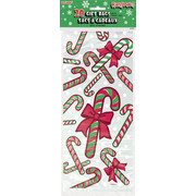 Christmas Candy Canes Cello Bags Pk20