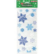 Christmas Blue Snowflake Cello Bags Pk20