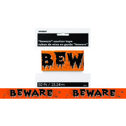 Fright Caution Tape 'Beware' (15m) Pk 1