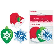 Assorted Christmas Design Scatters / Confetti Cutouts Pk 24