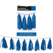 Royal Blue Tassel Garland Decoration (2.74m) Pk 1