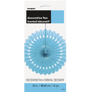 Light Blue Paper Fan Decoration (40cm) Pk 12