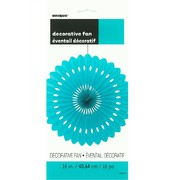 Teal Paper Fan Decoration (40cm) Pk 12
