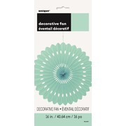 Mint Green Paper Fan Decoration (40cm) Pk 12