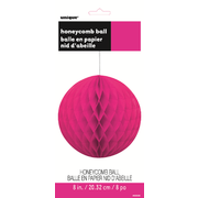 Neon Pink Honeycomb Ball Decoration (20cm) Pk 12