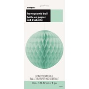 Mint Green Honeycomb Ball Decoration 20cm Pk 1