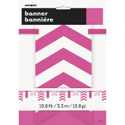 Hot Pink Dots and Stripes Flag Banner (3.3m) Pk 1