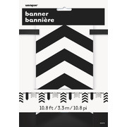 Black Dots and Stripes Flag Banner (3.3m) Pk 1