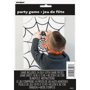 Halloween Pin the Spider on the Spiderweb Party Game Pk 1
