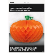 Halloween Pumpkin Honeycomb Centrepiece Decoration (27.3cm) Pk 1