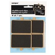 Mini Message Blackboard Clips with Chalk Pk 4