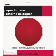 Red Decorative Paper Lantern (25cm) Pk 12
