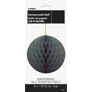 Black Honeycomb Ball Decoration (20cm) Pk1