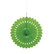 Lime Green Paper Fan Decoration (40cm) Pk 12