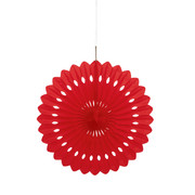 Red Paper Fan Decoration (40cm) Pk 12