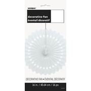 White Decorative Paper Fan Decoration (40cm) Pk 12