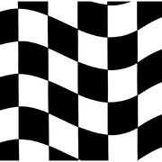 Black & White Check Racing 2Ply Cocktail Napkins Pk 18