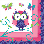Owl Pal Birthday 3Ply Cocktail Napkins Pk 16