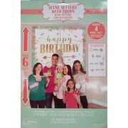 Boho Birthday Scene Setter With Photo Props (70.6 x 101.8cm) PK 16