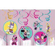 Minnie Mouse Hanging Swirl Decorations Pk 12