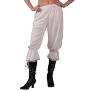 White Steampunk Costume Pantaloons (One Size) Pk 1