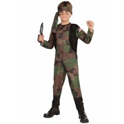 Child Army Soldier Costume (Medium, 8-10 Years) Pk 1