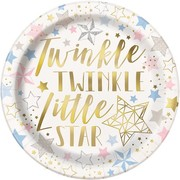 Twinkle Star 9in. Paper Plates Pk 8