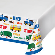 Traffic Jam Transport Plastic Tablecover (121cm x 223cm) Pk 1